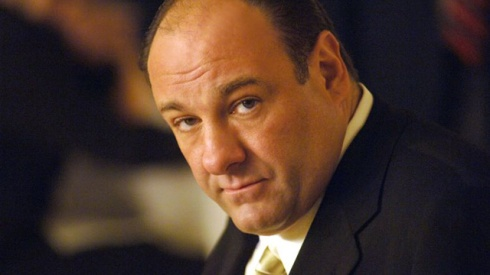 James Gandolfini in his role as Tony Soprano