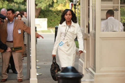 Olivia Pope white trench