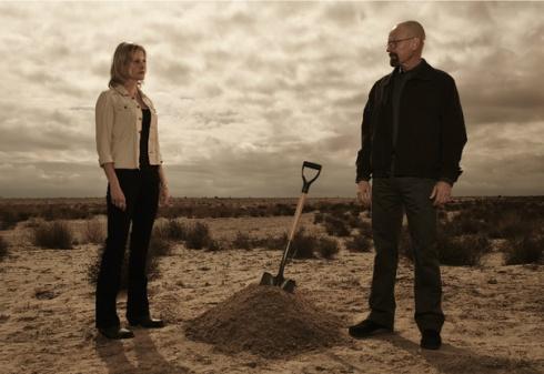 Skyler and Walt Breaking Bad