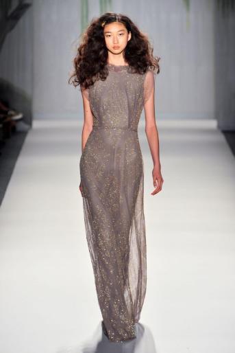 Jenny Packham grey dress