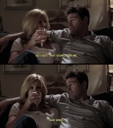 Tami Taylor and wine