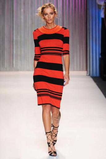 Tracy Reese red and black stripes