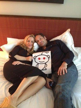 Gillian Anderson and David Duchovny AMA