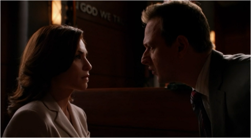 The Good Wife 5.10 yelling