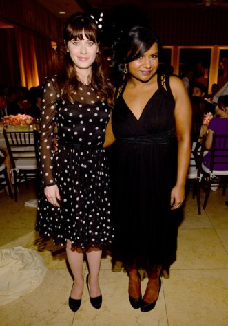 Zooey Deschanel and Mindy Kaling