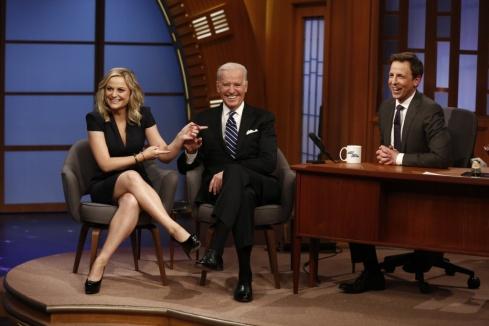 Seth Meyers, Amy Poehler, Joe Biden