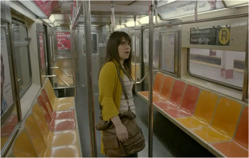 Broad City 1.03 mustard cardigan