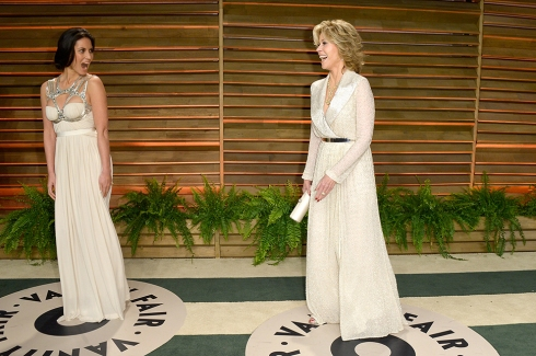 Olivia Munn and Jane Fonda