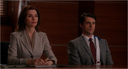 The Good Wife 5.18 Alicia and Finn light grey
