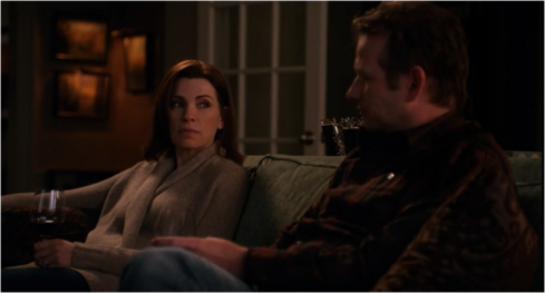 The Good Wife 5.19 wine cardigan