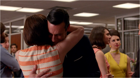 Mad Men 7.07 hug