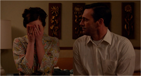 Mad Men 7.07 Peggy and Don hotel