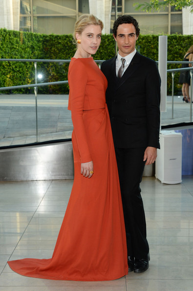 Greta Gerwig and Zac Posen
