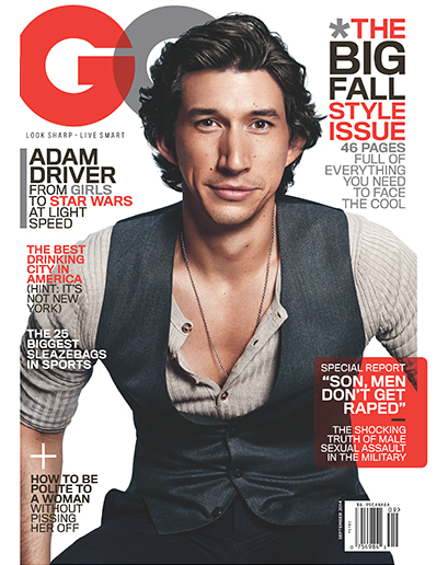 Adam Driver GQ cover