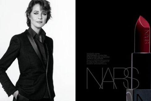 Charlotte Rampling NARS campaign