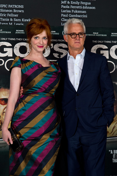 Christina Hendricks and John Slattery