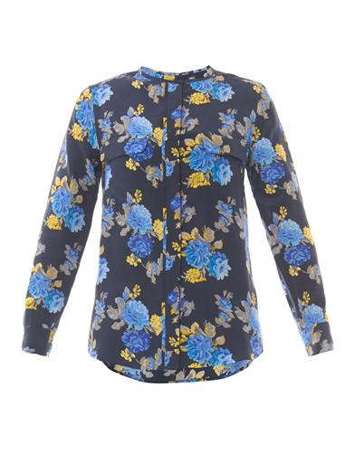 Equipment floral blouse