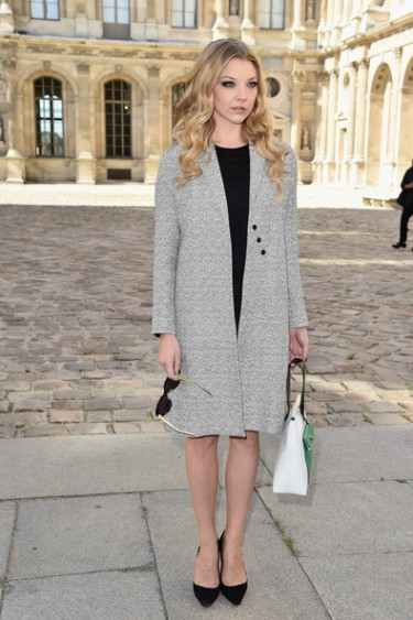 Natalie Dormer Dior Paris Fashion week