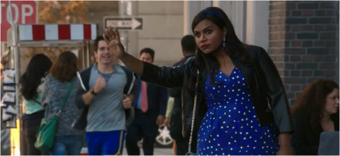 The Mindy Project 3.06 blue dress