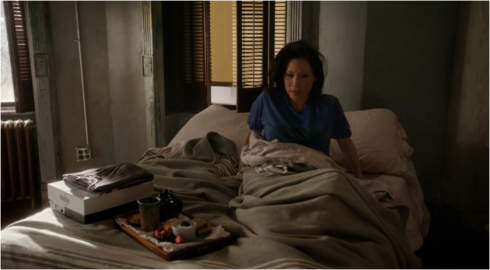 Elementary Joan in bed