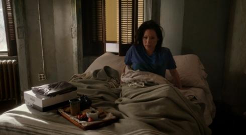 Elementary Joan in bed