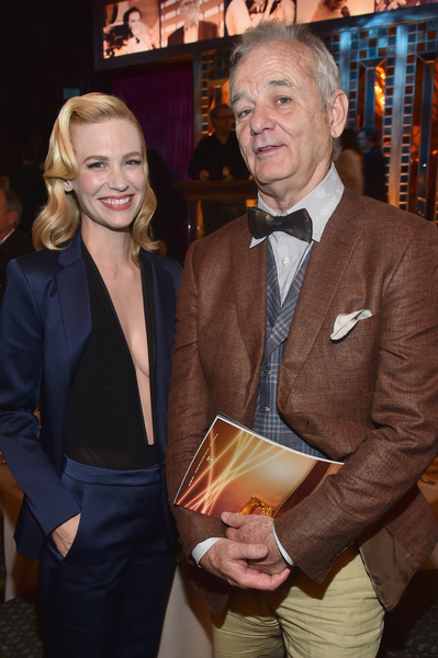 January Jones and Bill Murray