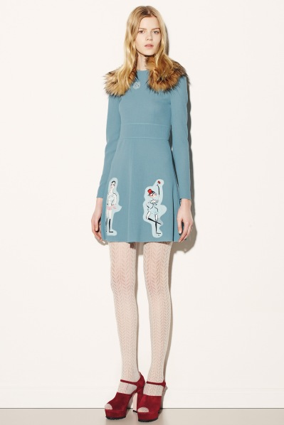 Red Valentino blue dress