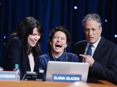 Abbi, Ilana and Jon Stewart