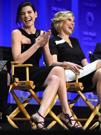 Julianna Margulies and Christine Baranski