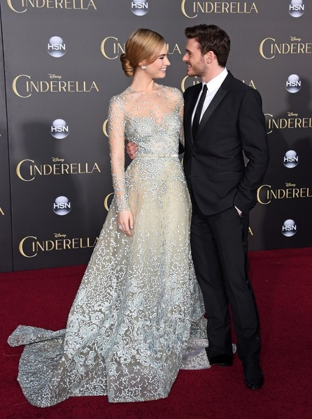 Lily James and Richard Madden Cinderella