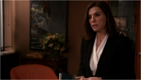 The Good Wife 6.17 black and white suit