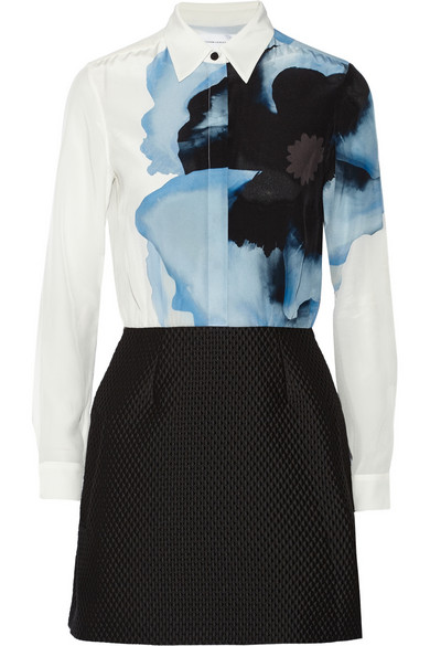 Victoria Beckham contrast shirt dress