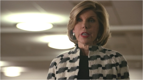 the Good Wife 6.19 Diane black and white