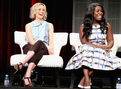 Uzo Aduba and Taylor Schilling