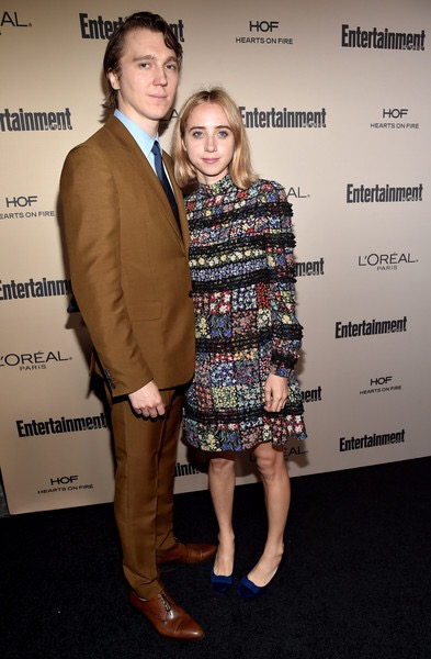 ab9fe8528cd0 Zoe Kazan s dress is a patchwork perfection and bf Paul Dano looks dashing  in all the brown with a hint of blue. I got Olive Kitteridge on DVD (yes I  still ...