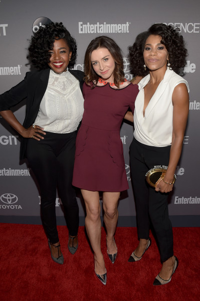 Jerrika Hinton, Caterina Scorsone, and Kelly McCreary