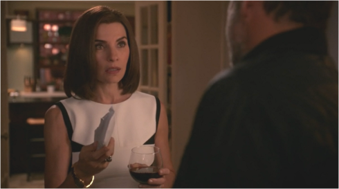 The Good Wife 7.05 Alicia and wine
