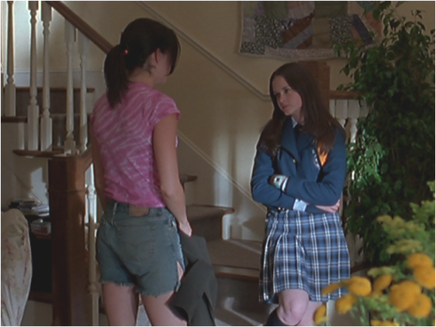 Gilmore Girls 1.02 jorts and plaid