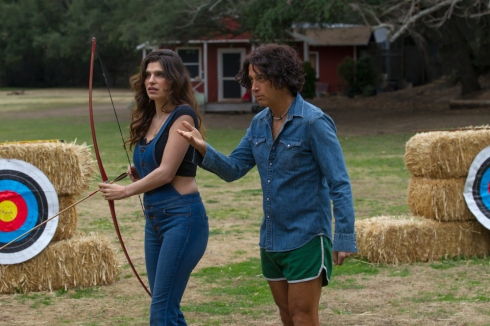 "Lake Bell and David Wain in Season 1 of the Netflix original series ""Wet Hot American Summer"" Credit: Saeed Adyani, Netflix [Via MerlinFTP Drop]"