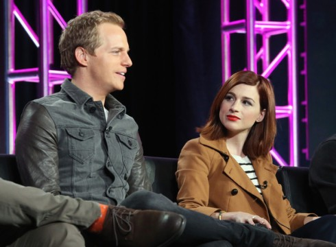Aya Cash and Chris Geere