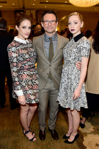 Christian Slater, Portia Doubleday and Carly Chaikin