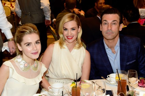 Kiernan Shipka, January Jones and Jon Hamm