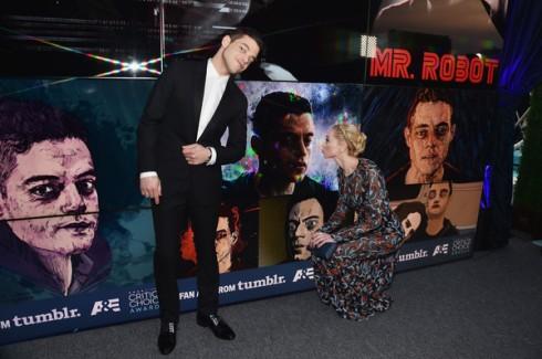 Rami Malek and Portia Doubleday