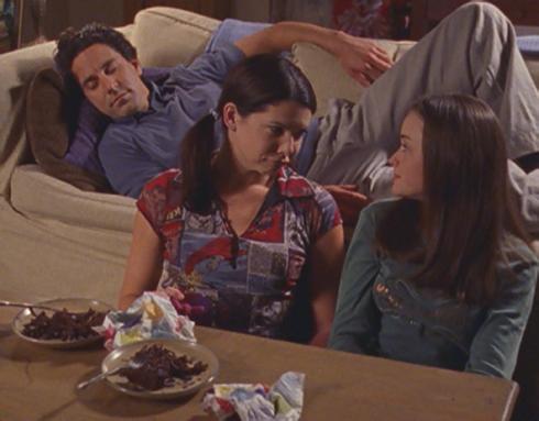 Gilmore Girls 2.03 Rory, Lorelai, Max