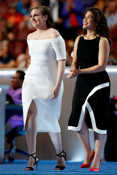 Lena Dunham and America Ferrera
