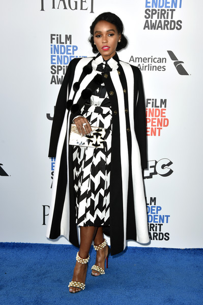 75d3fc8035 Janelle Monáe gives another lesson in how to wear black and white on every  red carpet and keep things interesting. This time it is Salvatore Ferragamo  and ...
