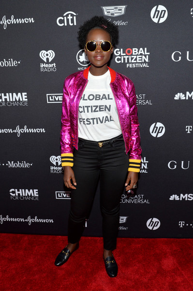 b8a98c912add Lupita Nyong'o gives great red carpet no matter the style code and at the  2017 Global Citizen Festival in Central Park she looks cool af in Gucci  pink ...