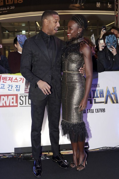 3057a7aa At the Seoul premiere, Lupita once again goes for a spin on the warrior  vibe—as a nod to her character Nakia—but with added glitz and feathers in  Ralph ...